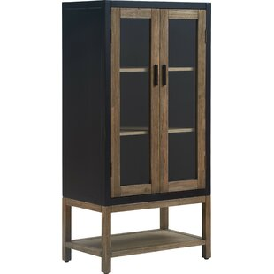 Elmhurst Storage Cabinet, Black and Weathered Grey by Tommy Hilfiger