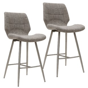 Akron 26'' Bar Stool (Set of 2) Orren Ellis
