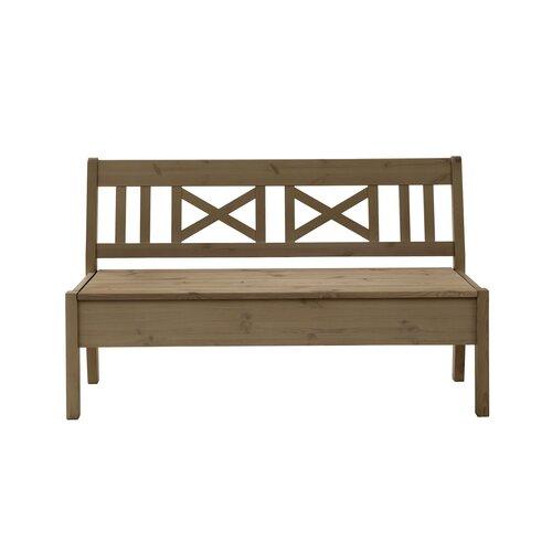 Alston Wooden Storage Bench August Grove Colour/Finish:
