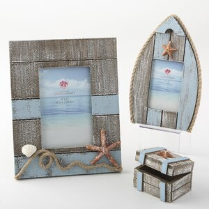 Gertrude 3 Piece Beach Starfish Picture Frame Set