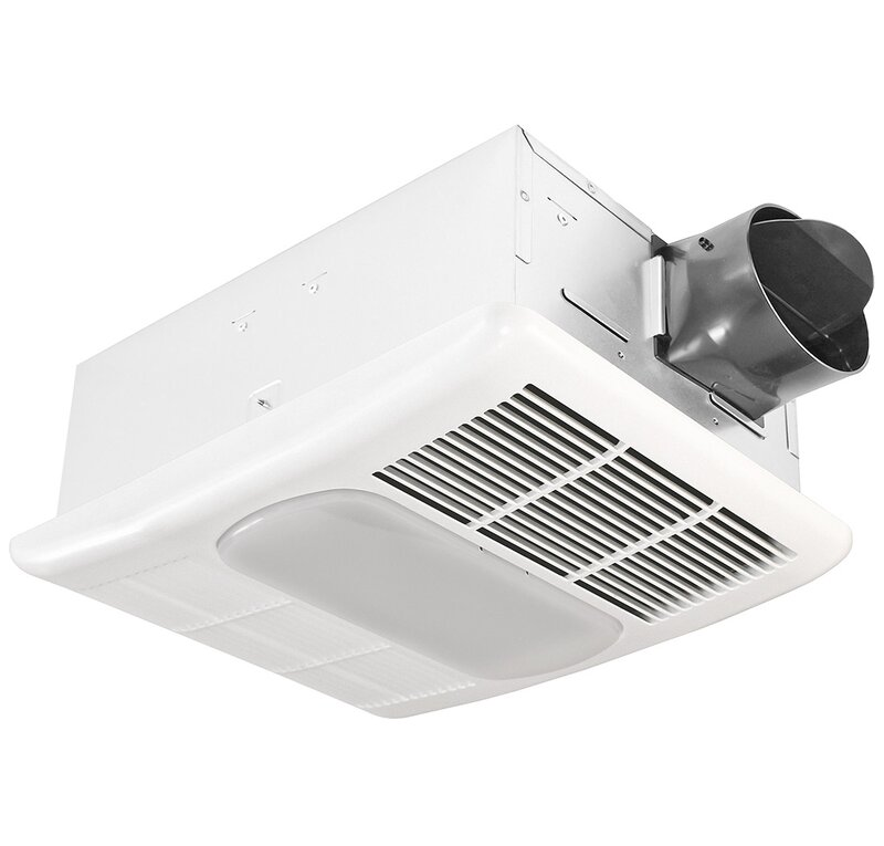 Delta Breez Exhaust 80 CFM Bathroom Fan with Light and ...