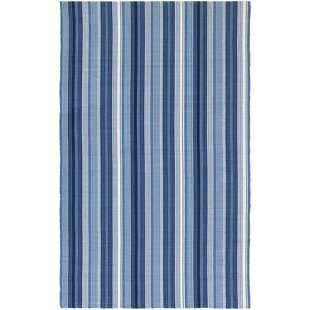 Affordable Artique Hand-Woven Blue Area Rug By Highland Dunes
