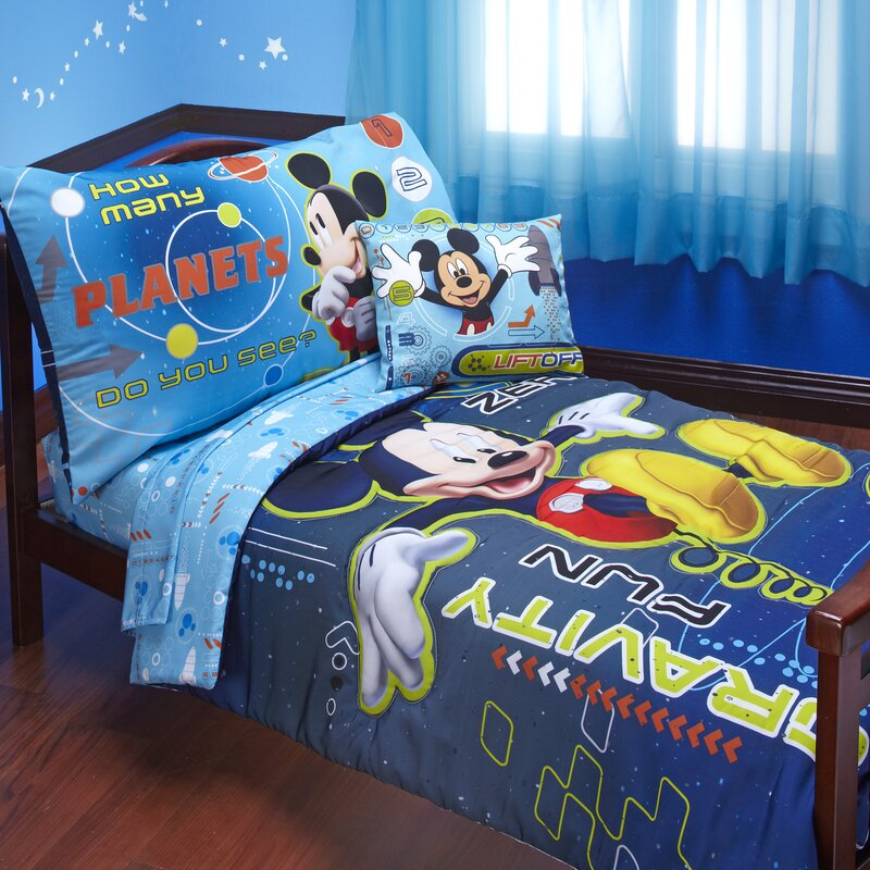 Charmant Mickey Mouse Space Adventures 4 Piece Toddler Bedding Set