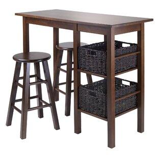 Weldon 5 Piece Pub Table Set Red Barrel Studio