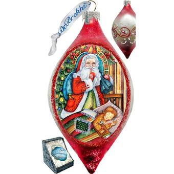 The Holiday Aisle Fifield Christmas Angels Stocking Shaped Ornament Derevo Collection Wayfair