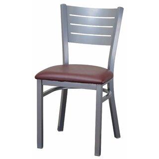 Wide Slat Steel Ladder Back Upholstered Dining Chair by DHC Furniture SKU:CA977005 Shop