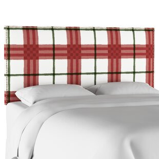 August Grove Pacheco Nail Button Border Upholstered Panel Headboard
