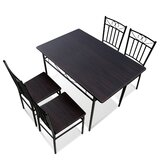 Abydos 5 Piece Dining Table Set by Winston Porter