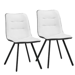 George Oliver Dimas Cushioned Upholstered Dining Chair (Set of 2)