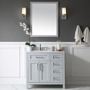 Tahoe 36 Single Bathroom Vanity Set with Mirror by Ove Decors