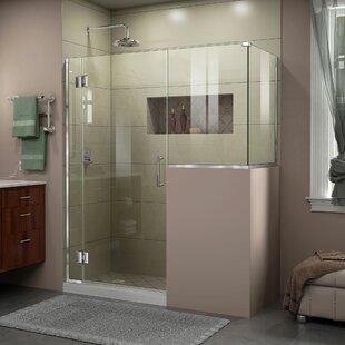 DreamLine Unidoor-X 59 in. W x 36 3/8 in. D x 72 in. H Frameless Hinged Shower Enclosure