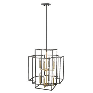Ivy Bronx Bedingfield 8-Light Rectangle Pendant