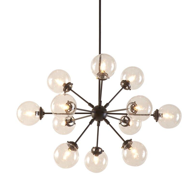 Benites 12 light sputnik chandelier reviews allmodern benites 12 light sputnik chandelier aloadofball Choice Image