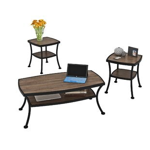 Aisha 3 Piece Coffee Table Set Millwood Pines