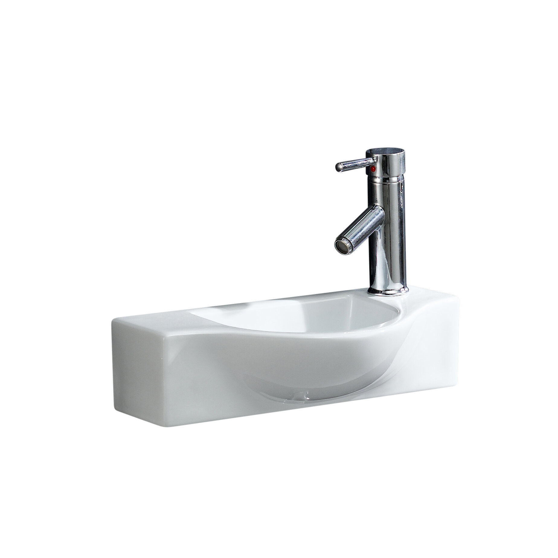Fine Fixtures Modern Ceramic 18 Wall Mount Bathroom Sink Reviews Wayfair