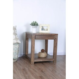Compare prices Caius End Table By Millwood Pines