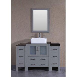 Amanda 54 Single Bathroom Vanity Set with Mirror by Bosconi