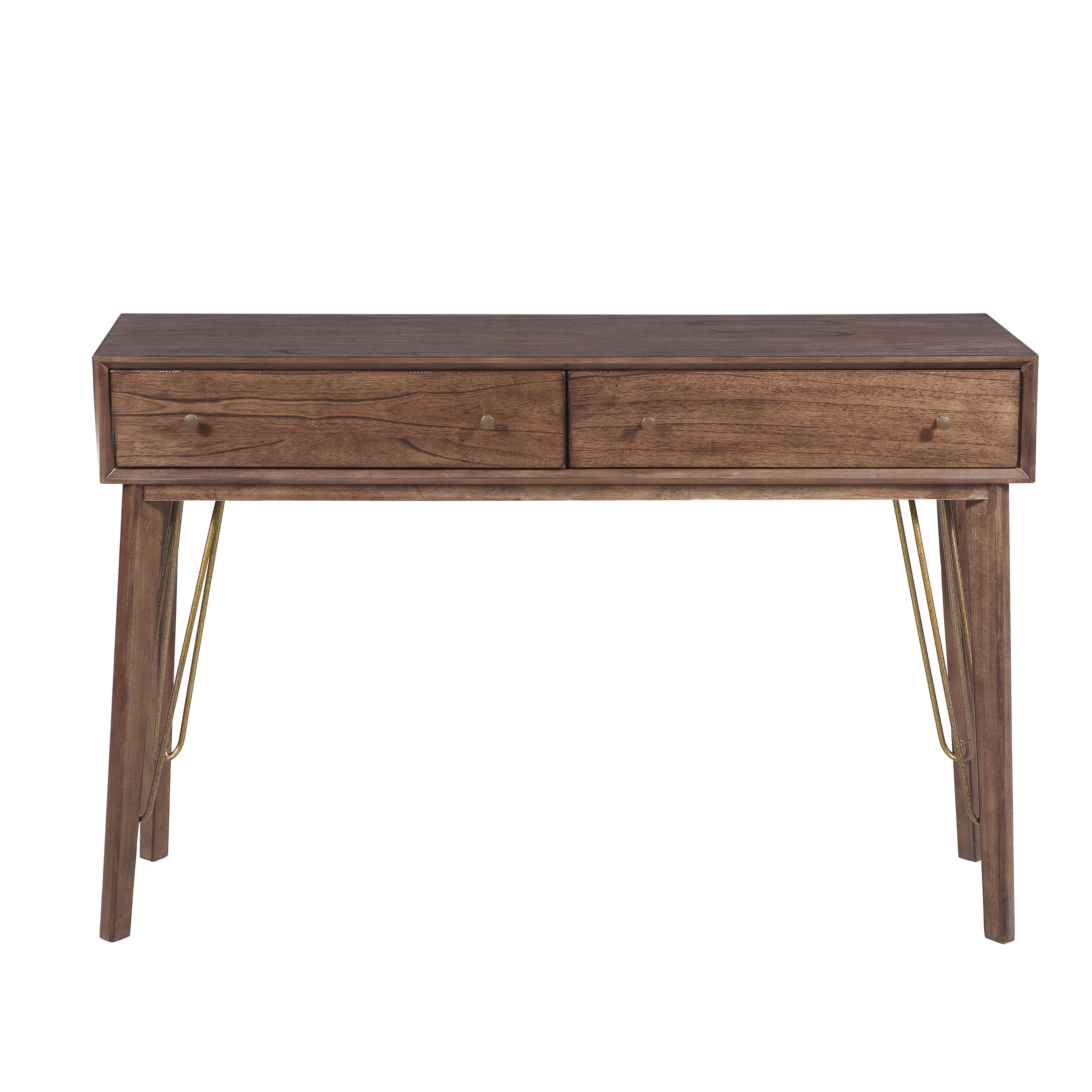 George Oliver Verville Mid Century Modern Two Drawer Accent Storage Console Table Reviews Wayfair