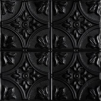Shanko 4 Ft X 0 21 Ft Glue Up Metal Ceiling Tile In Copper Wayfair