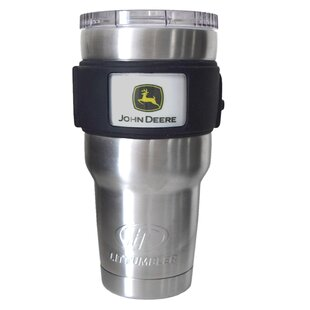 John Deere Licensed Stainless Steel Water Bottle/Travel Tumbler (Set of 6)