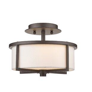 Rainer 2-Lights Semi-Flush Mount by Brayden Studio
