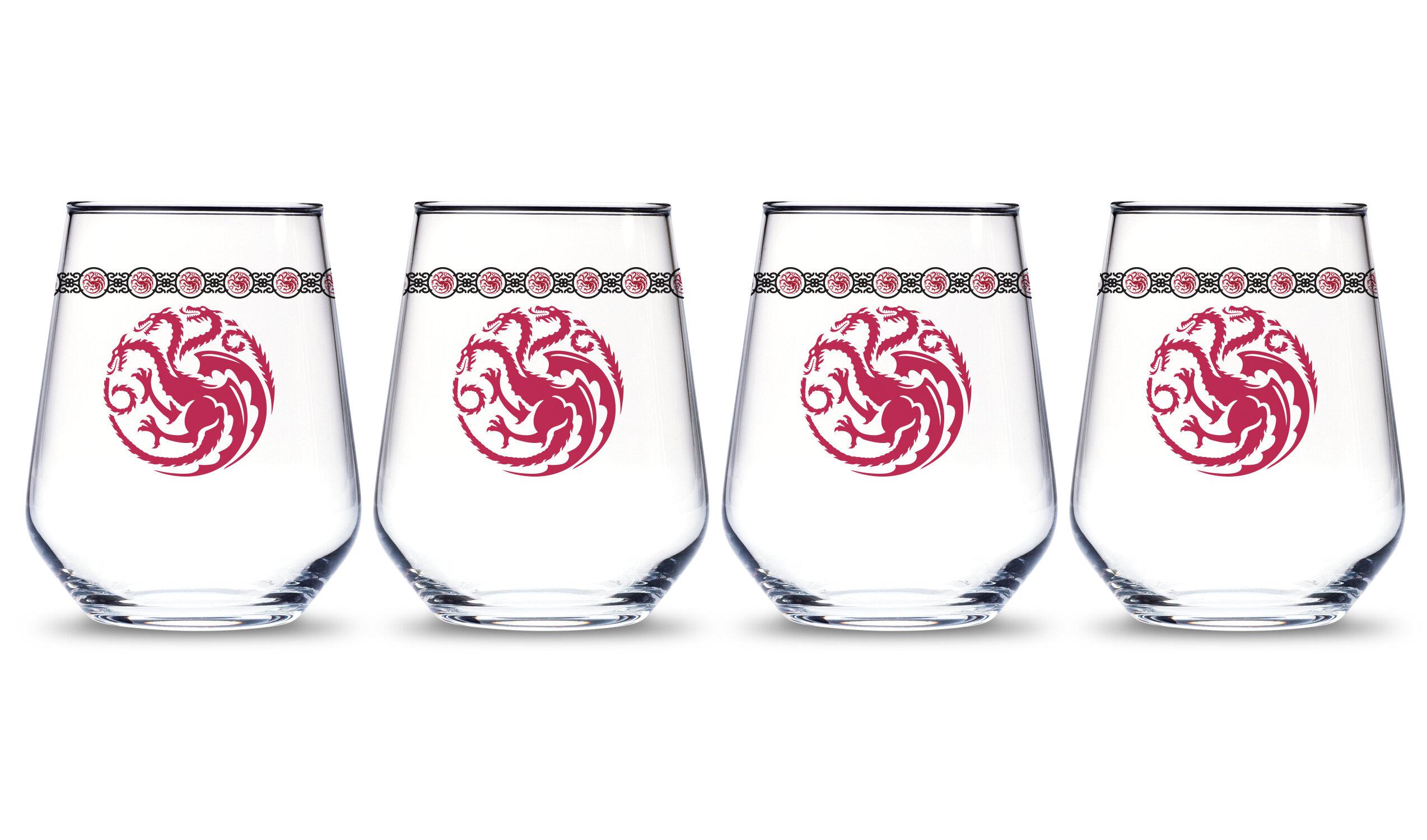 Pb Targaryen Dragon 15 Oz Stemless Wine Glass Wayfair