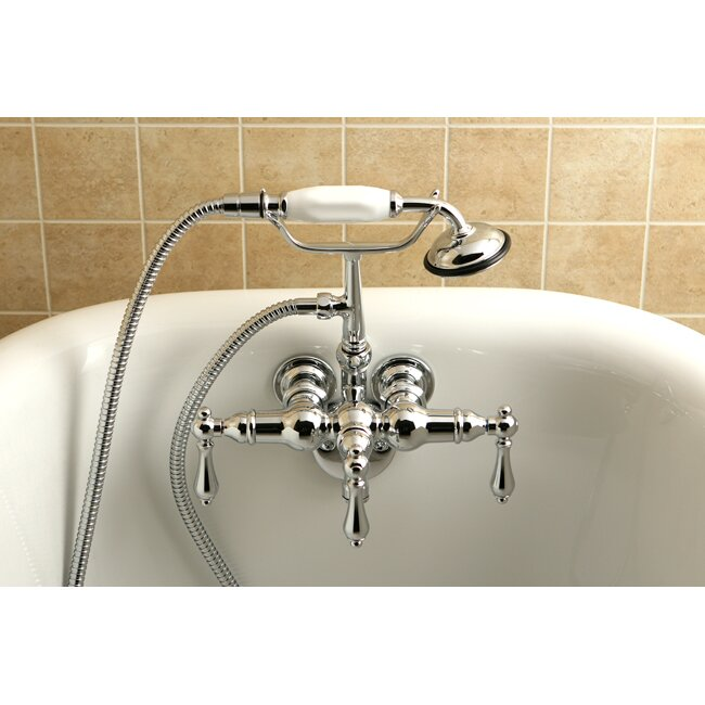 Kingston Br Vintage Triple Handle Wall Mounted Clawfoot Tub