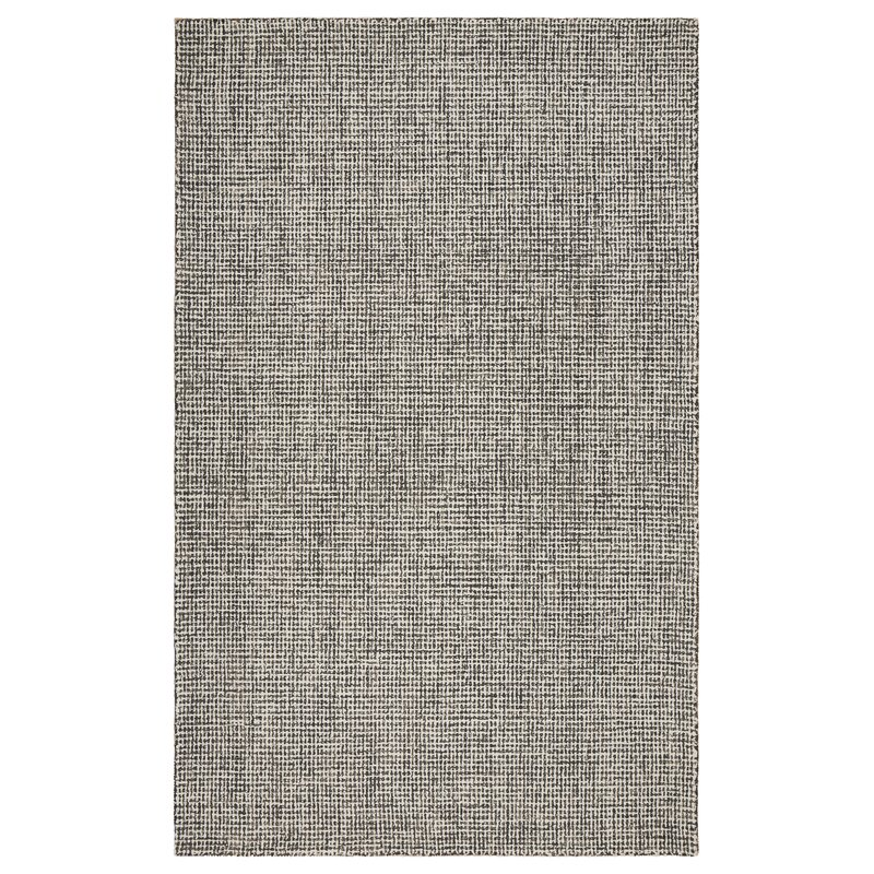 Mccurry Hand-Hooked Wool Gray Area Rug