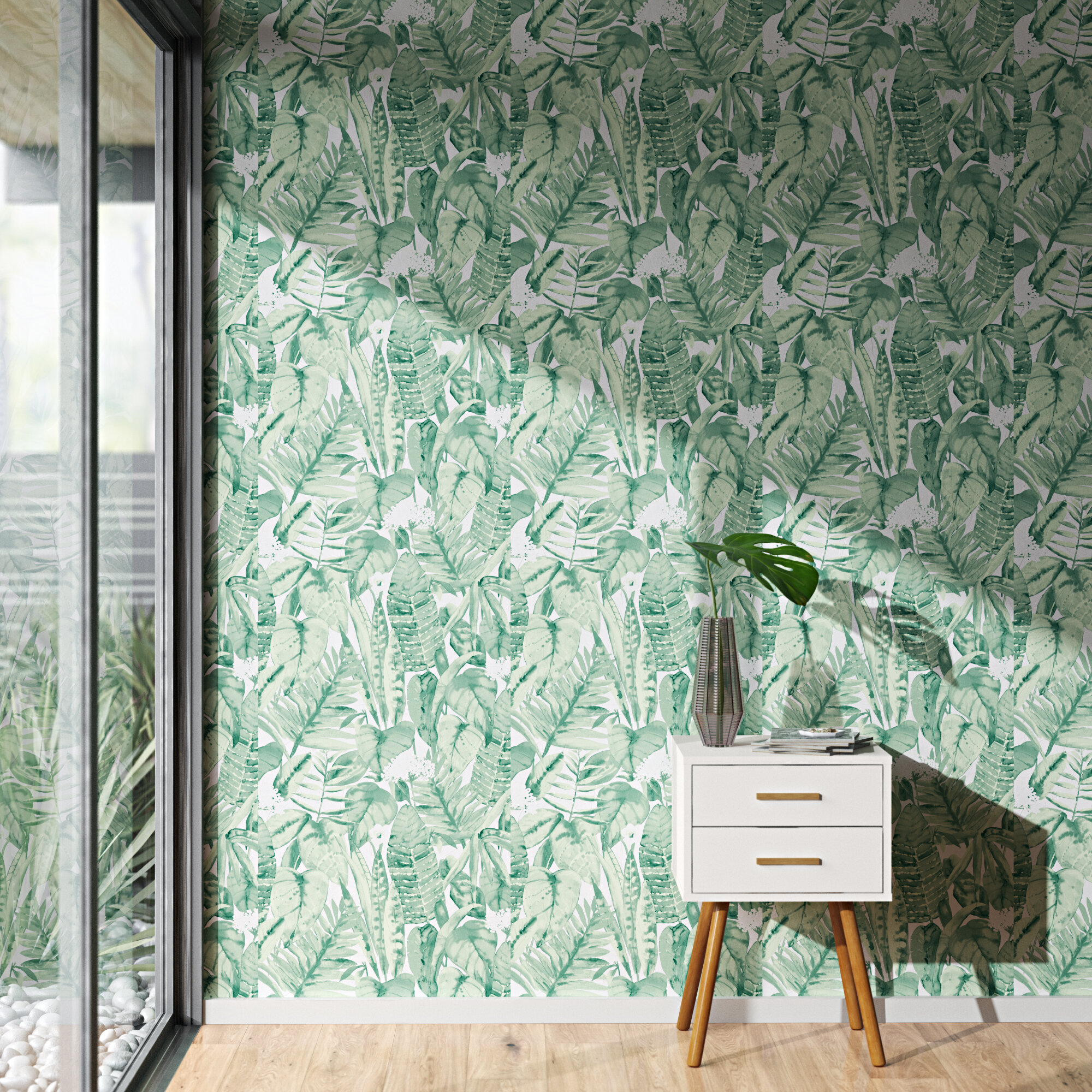 Barreto Tropical Jungle 16 5 L X 20 5 W Peel And Stick Wallpaper Roll Reviews Allmodern