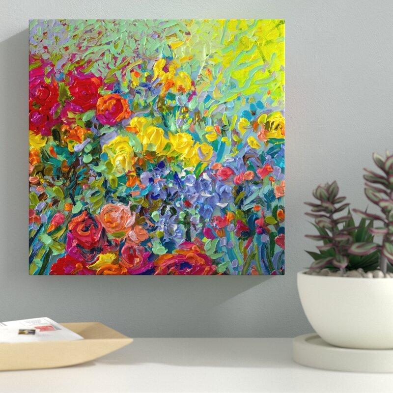 Latitude Run Clay Flowers Acrylic Painting Print On Wrapped Canvas Reviews Wayfair Ca