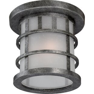 Reviews Hartnell 1-Light Flush Mount By Breakwater Bay