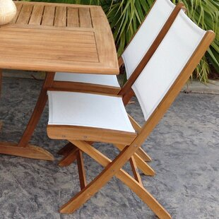 Chic Teak Miami Folding Teak Patio Dining Chair (Set of 2)