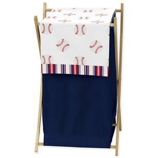 Sweet Jojo Designs Baseball Patch 3 Piece Laundry Hamper Set