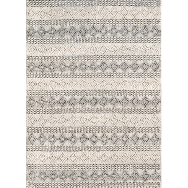 Gracie Oaks Elissa Geometric Handmade Flatweave Ivory Area Rug Reviews Wayfair