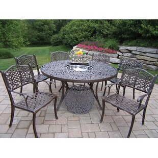Mississippi 7 Piece Dining Set with Cooler Insert
