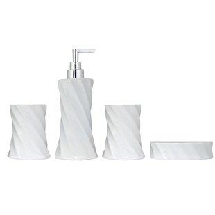 Modona 4 Piece Flora Series Bathroom Accessories Set