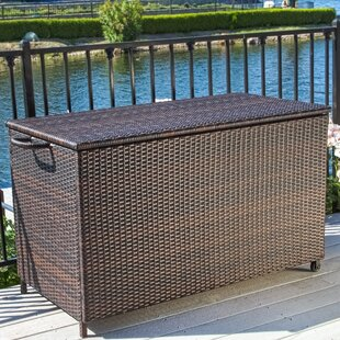 Highland Dunes Ugarte 150 Gallon Wicker Deck Box
