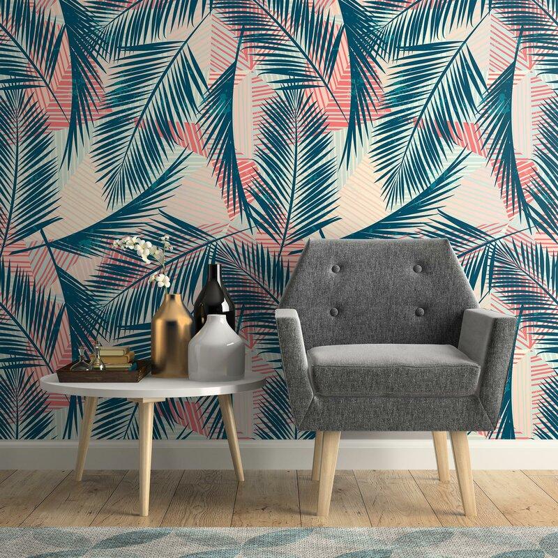 Bay Isle Home Mata Tropical Removable Peel And Stick Wallpaper Panel Wayfair