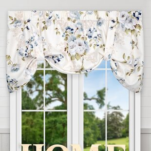 Blue Tie Up Valances U0026 Kitchen Curtains