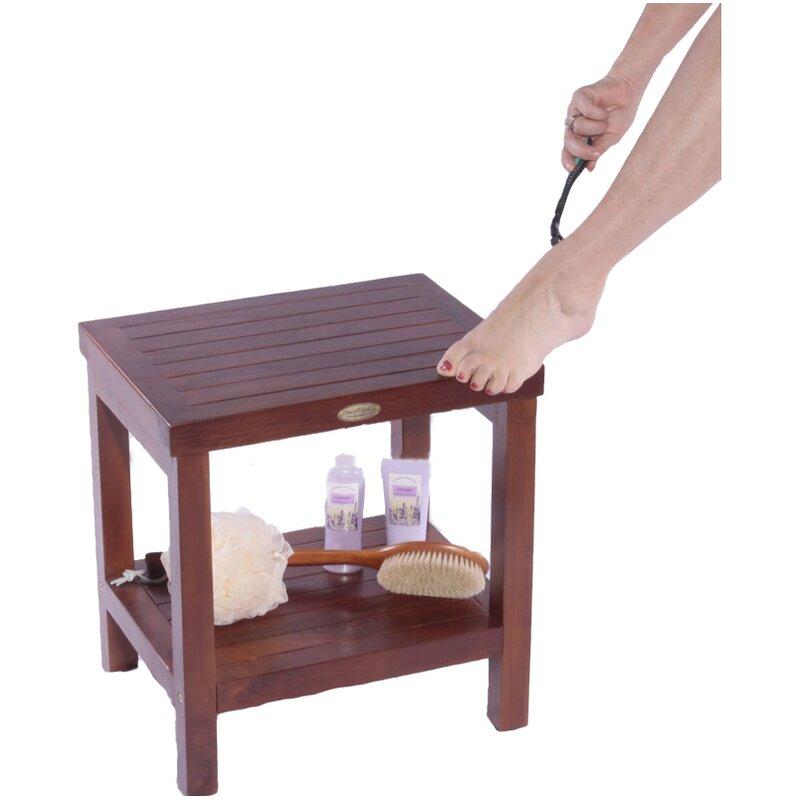 Decoteak Classic Teak Spa Traditional Shower Seat & Reviews | Wayfair