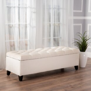 Amalfi Upholstered Storage Bench Three Posts