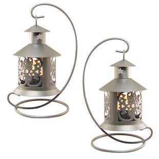LumaBase Metal Tealight Lantern (Set of 2)