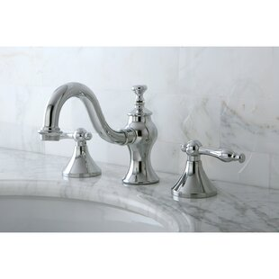 Kingston Brass Naples Widespread Lavatory Bathroom Faucet with Brass Pop-Up