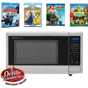 Movie Night with Orville Redenbacher's Certified 20 1.1 cu.ft. Countertop Microwave with 4 Blu-ray 3D Movies by Sharp