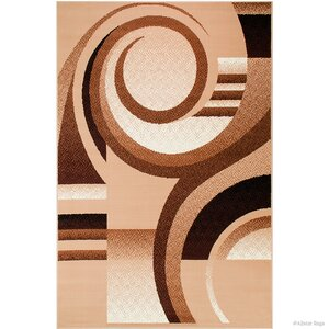 Hand-Woven Brown Area Rug