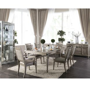 Fordyce Solid Wood Dining Table House of Hampton