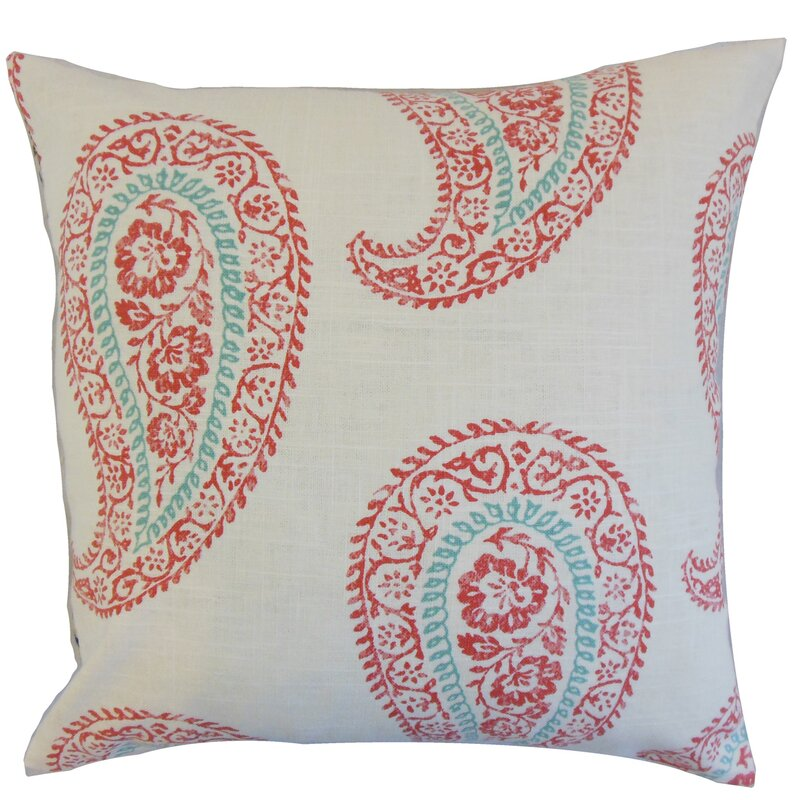 Neith Paisley Throw Pillow