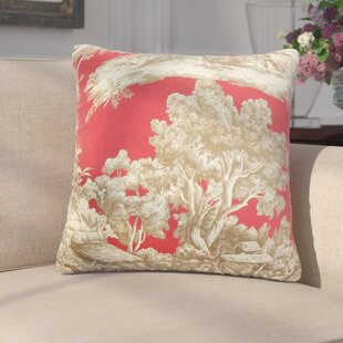 Wellhead Toile Cotton Throw Pillow