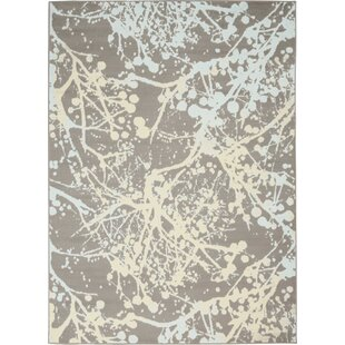 Java Abstract Gray/Ivory Area Rug by Wrought Studio