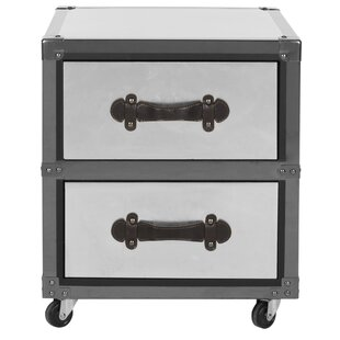 Gage 2 Drawer Rolling Accent Chest